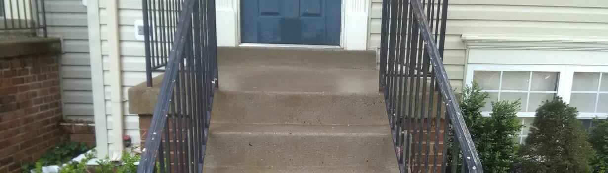 Front Concrete steps